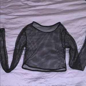 MISSGUIDED fishnet crop top